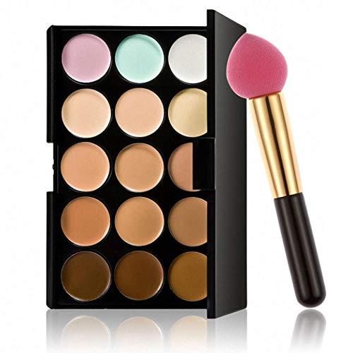 AIMADO Palette de maquillage professionnelle 15 couleurs Pinceaux pour le visage