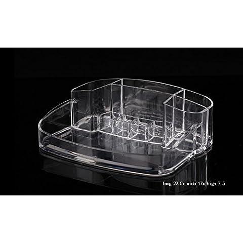 YRZT Alta qualità scatola di immagazzinaggio di gioielli cosmetici di cristallo acrilico