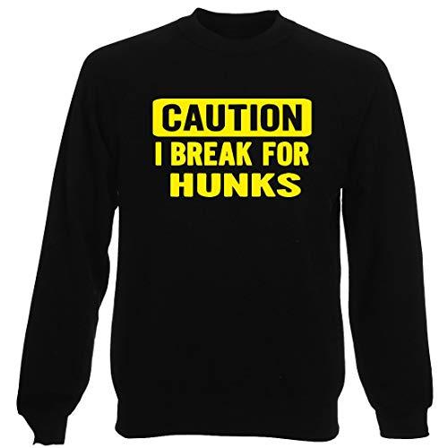 Rundhals-Sweatshirt fur Mann Schwarz FUN0355 328 Brake 4 Hunks 89152