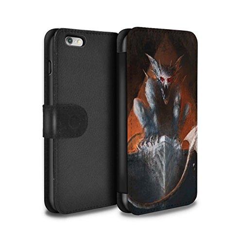 Offiziell Chris Cold PU-Leder Hülle/Case/Tasche/Cover für Apple iPhone 6S+/Plus / Flügel von Nox Muster / Wilden Kreaturen Kollektion Vampirfledermaus