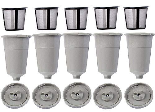 OxoxO Replace Coffee K-Cup Filter for Keurig Fits B30 B40 B50 B60 B70 Series (5 Pack)