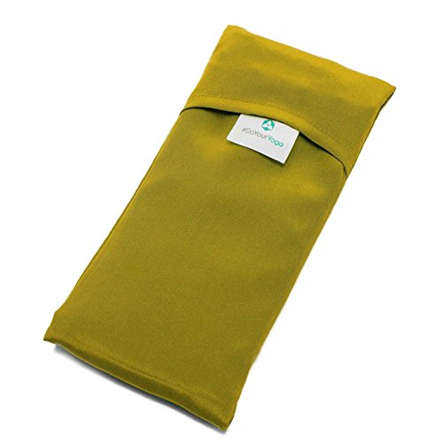 #DoYourYoga Baumwoll-Augenkissen »Khan« mit Leinsamen/Lavendel Füllung - biologisch angebaute Baumwolle, angenehm weich/20 x 9 cm/Lindgrün (Leinsamen Von Vorteile)