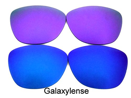 Galaxis Ersatzgläser für Oakley Frogskins Blau/Lila Farbe Polarisiert 2 Paar