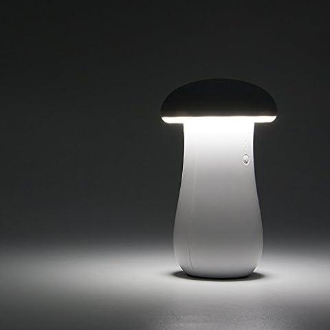 Veesee Lumières de nuit de champignon de LED Lampes décoratives de chargeur d'énergie d'économie d'énergie, 1