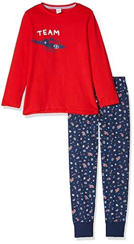 eiliger Schlafanzug Pyjama Long Rot (Rouge 3480) 92 (Herstellergröße: 092) ()