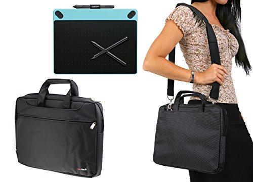 Navitech piccola borsa nera di grafica per il caso WACOM Intuos Art CTH-490AK-S