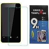 Fologar Protector de Pantalla Cristal Templado para Nokia Lumia 630 635