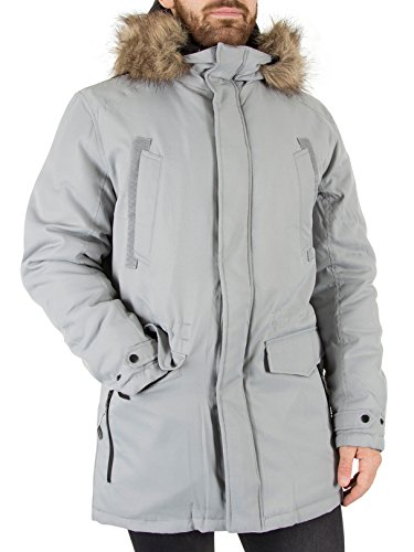 JACK & JONES Herren Jcoland Parka Jacket Camp Grau