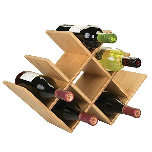 Para almacenar las botellas con estilo - Los muebles para vinos de mDesign      Con este estante para vino de diseño, las botellas se organizan con elegancia. Por supuesto, también sirve para almacenar otros tipos de bebidas o botellas de agu...