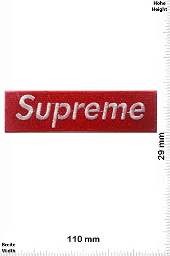 Parches   Supreme   red/white   rojo/blanco   Patch