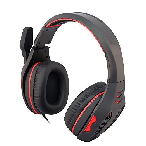 j-earle bx-03USB Stereo Gaming Headset Wired PC Over-Ear Kopfhörer mit Mikrofon Geräuschunterdrückung Lautstärkeregler mit Mute Funktion für PS3PS4PC MAC Laptop Computer rot schwarz/red - 03 Usb