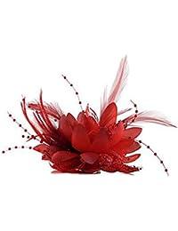 HFJ&YIE&H Fascinadores de la flor de la pluma para el casco de la boda / del