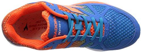 Diadora - N-6100-2, - Uomo Azzurro/Arancio