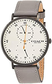 Coach Mens Quartz Wrist Watch, Grey Strap - 14602475