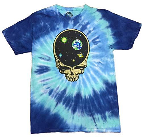 Legends of Rock Herren T-Shirt Grateful Dead Skull Jerry Garcia Deadhead Tie Dye - Blau - Large/52/54