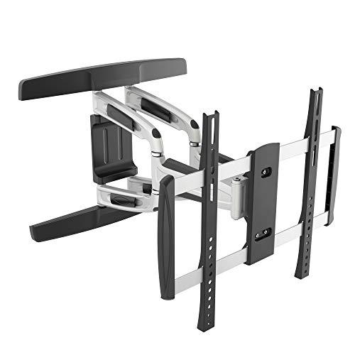 RICOO TV Wandhalterung S3144 Universal für 32-65 Zoll (ca. 81-165cm) Schwenkbar Neigbar Wand Halter Aufhängung Fernseh Halterung auch für Curved LCD LED Fernseher VESA 200x200 400x400 Silber Schwarz