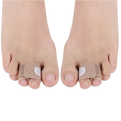 Mittlerer Zehentrenner Bahre Zehenteiler Schiene Nylon Schmerzlinderung Überlappung Gepolsterter Korrektor