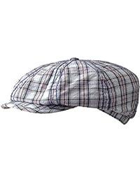 Stetson Hatteras Seersucker Coppola cappello piatto pied de poule newsboy  cap 25dbc5f6905b