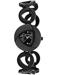 Austere ENYA Analog Black Dial Women's Watch - WEN-0202B