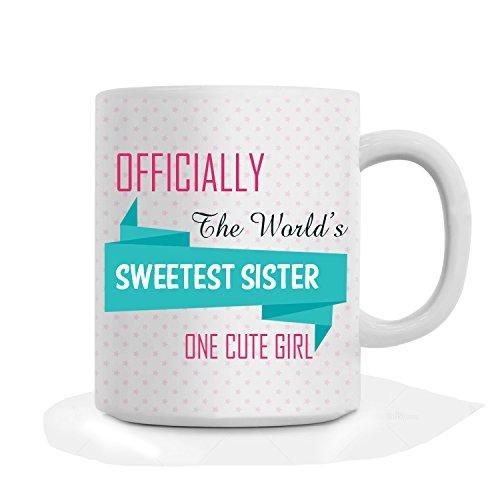 Giftsbymeeta Rakhi Gift Sweetest Sister White Ceramic Mug For Sister Rakhigifts8537