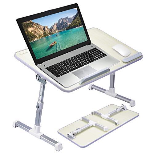 Avantree Neetto GROßFORMAT Tragbarer Betttablett, Höhenverstellbar Laptop Betttisch Tablett Bett Fruehstueck Notebook Tisch Stehpult, Klappbar Laptoptisch Fuer Sofa