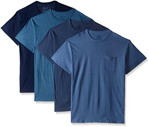Fruit of the Loom Herren Pocket T-Shirt Multipack - Blau - XXX-Large -