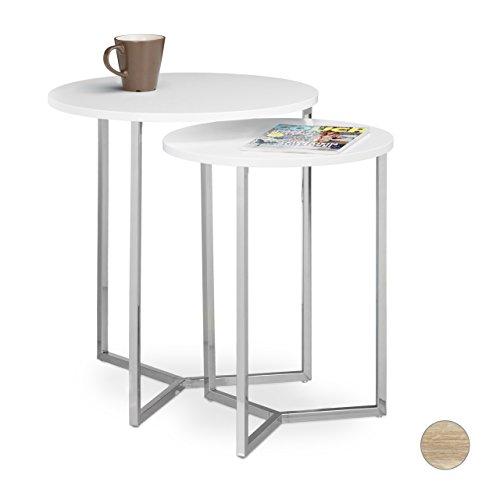 Relaxdays Set tavolini/tavoli da/per soggiorno, impilabili e ...