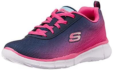 d429a6eca1ee Skechers Girls Equalizer Navy and Hotpink Sports Shoes - 1 Kids UK ...