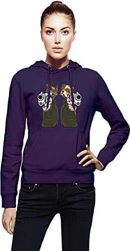 Pulp Fiction Lion And Dog Womens Hoodie X-Large - Dog Skull Hoodie Kleidung