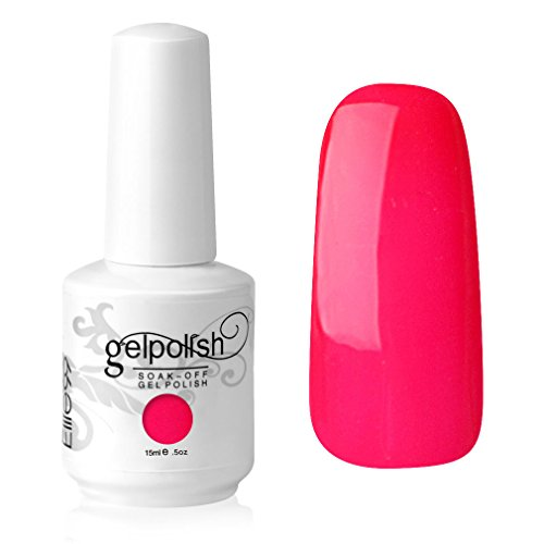 Elite99 Gelish UV LED Gel auflösbarer Nagellack Nagelgel Gellack Neon rosa rot red (1 x 15 ml)