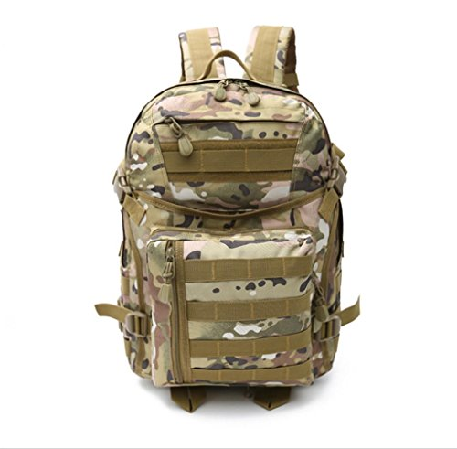 FFZH Grande zaino mimetico militare campeggio Zaino (nero ACU camuffamento cachi) , D A