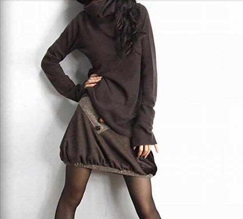 Maglione di cashmere slim punch con cappuccio maglione con cappuccio del pullover maglione tutte le donne con fiore a maglia , caffè , m