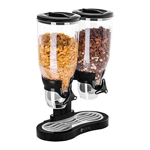 Royal Catering - RCCS-6L/2 - Dispensador de Cereales 2 contenedores - 6 l - Envío Gratuito