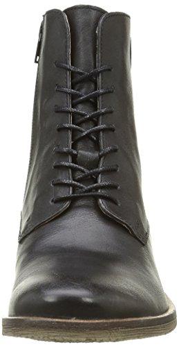 Kickers Life, Bottes Classiques Femme Noir (Noir Argent)