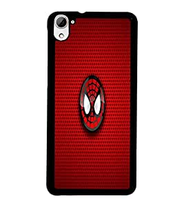 PrintDhaba Spider Logo D-1699 Back Case Cover for HTC DESIRE 826 (Multi-Coloured)