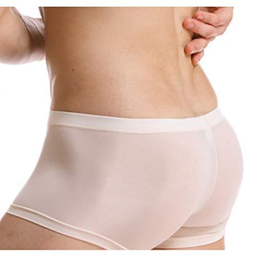 SLXHUAFA Herrenunterwäsche Shorts Unterhosen Silk Calzoncillos Hombre Slips Ropa Interior Home Unterwäsche Herren ML XL XXL Boxer