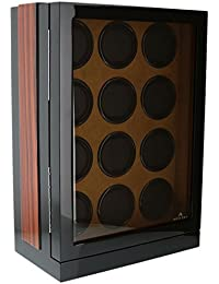 The Fortis Range New Robust Watch Winder for 12 Watches Zebrano Insert by Aevitas