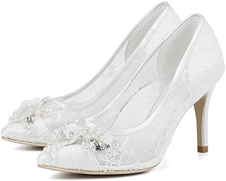 VIVIOO Prom Sandals Wedding scarpe donna bianca Wedding Bride Bride Bride scarpe Pointed In The Documentary scarpe With High Heels... | Usato in durabilità  cfec5c