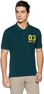 Amazon Brand - Symbol Men's Solid Regular fit Half Sleeve