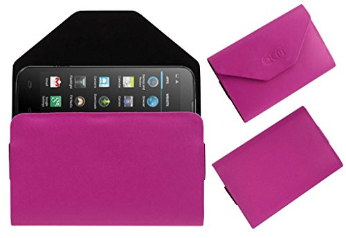 Acm Premium Pouch Case For Micromax Canvas Power A96 Flip Flap Cover Holder Pink  available at amazon for Rs.179