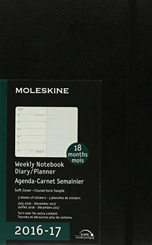 Moleskine 2016-2017 Weekly Notebook Diary / Planner, Large, Black