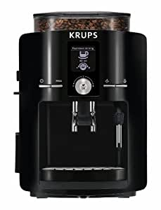 KRUPS EA8250 Espresseria Fully Automatic Espresso Machine with Built-in Conical Burr Grinder, Black by Groupe SEB