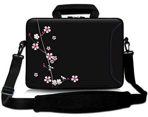 Sidorenko 15-15,6 Zoll Laptoptasche   Laptop Umhängetasche: Stilvolle Designer - Computer - Notebook-Schultertasche aus Neopren Schmutz- und Wasserabweisend   Notebook-Tasche mit Außentasche für Zubehör
