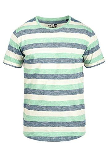 !Solid Thicco Herren T-Shirt Kurzarm Shirt mit Streifen und Rundhalsausschnitt 100% Baumwolle, Größe:XL, Farbe:Creme de Menthe (3017) -