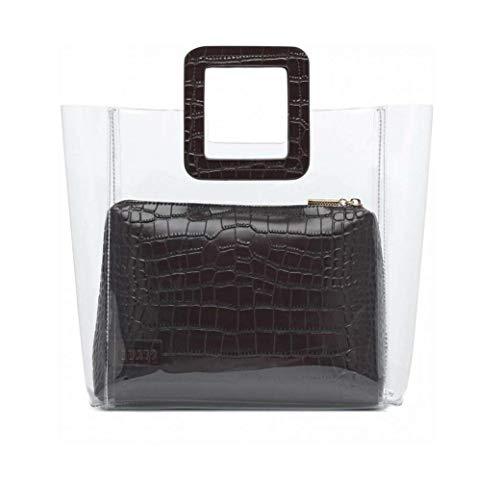 Klar Tasche wasserdichte Top Handle Satchel Handtaschen Transparente Taschen-Tasche Mit Innentasche Für Frau Mädchen -