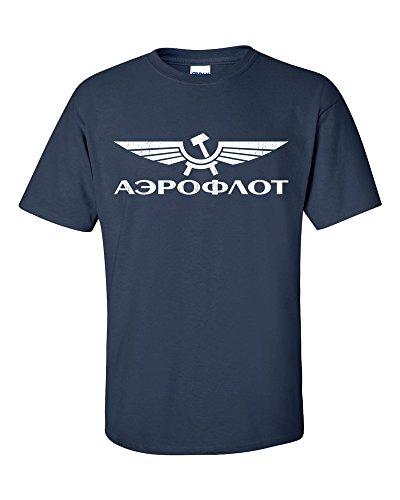 Aeroflot Russia Airlines T-Shirt Navy Blue