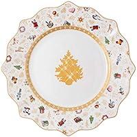 Villeroy & Boch - Toy\'s Delight plato de desayuno edición aniversario, plato de porcelana Premium, multicolor/dorado/blanco, 24cm