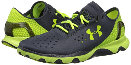 UNDER ARMOUR UA SpeedForm Apollo Scarpa da Running Uomo, Nero/Giallo, 44.5 Nero/Giallo