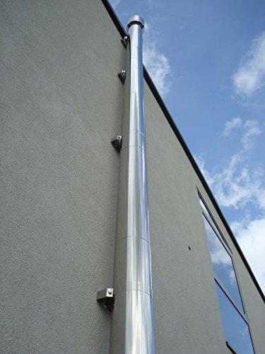 Preisvergleich Produktbild 150 mm Edelstahlschornstein doppelwandig 3,9 m. Schornstein Bausatz - Wandmontage