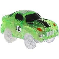 Goolsky Glitter Track Race Car para 55 mm Neon Glow in Darkness para niños